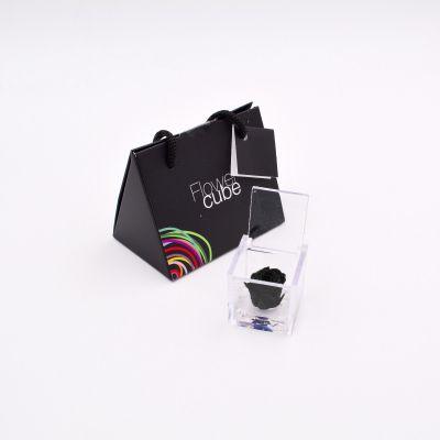 Mini Flowercube | Rosa stabilizzata nera