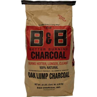 B&B Oak lump charcoal 9 kg