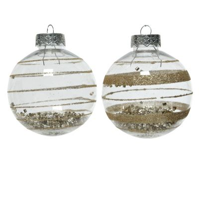 Sh.prf bauble w glitter 2ass