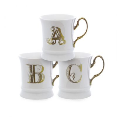Letter mug gold i